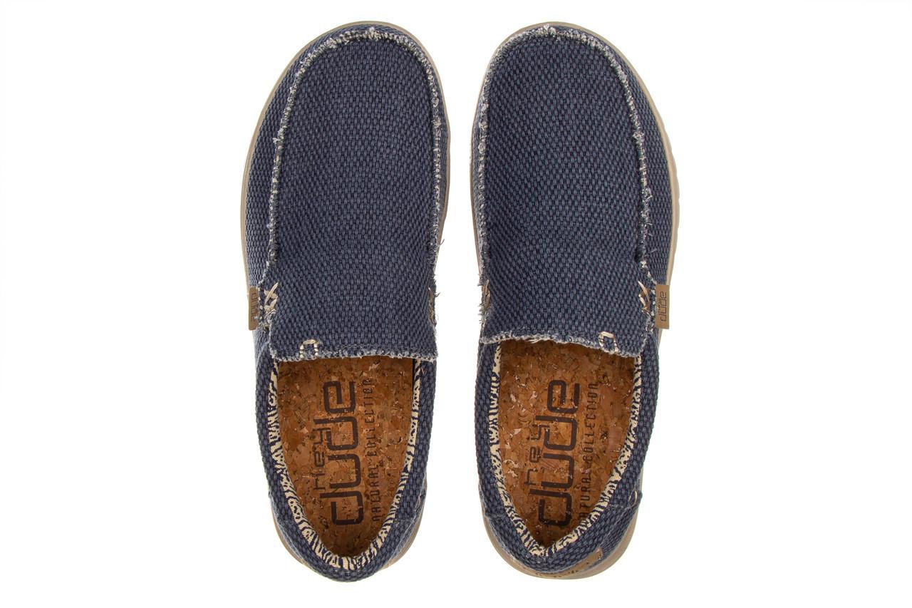 Półbuty heydude mikka braided deep blue 003196, granat, materiał - buty męskie - mężczyzna 12