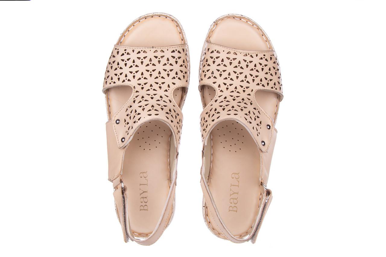 Sandały bayla-161 016 966 beige 161195, beż, skóra naturalna 13