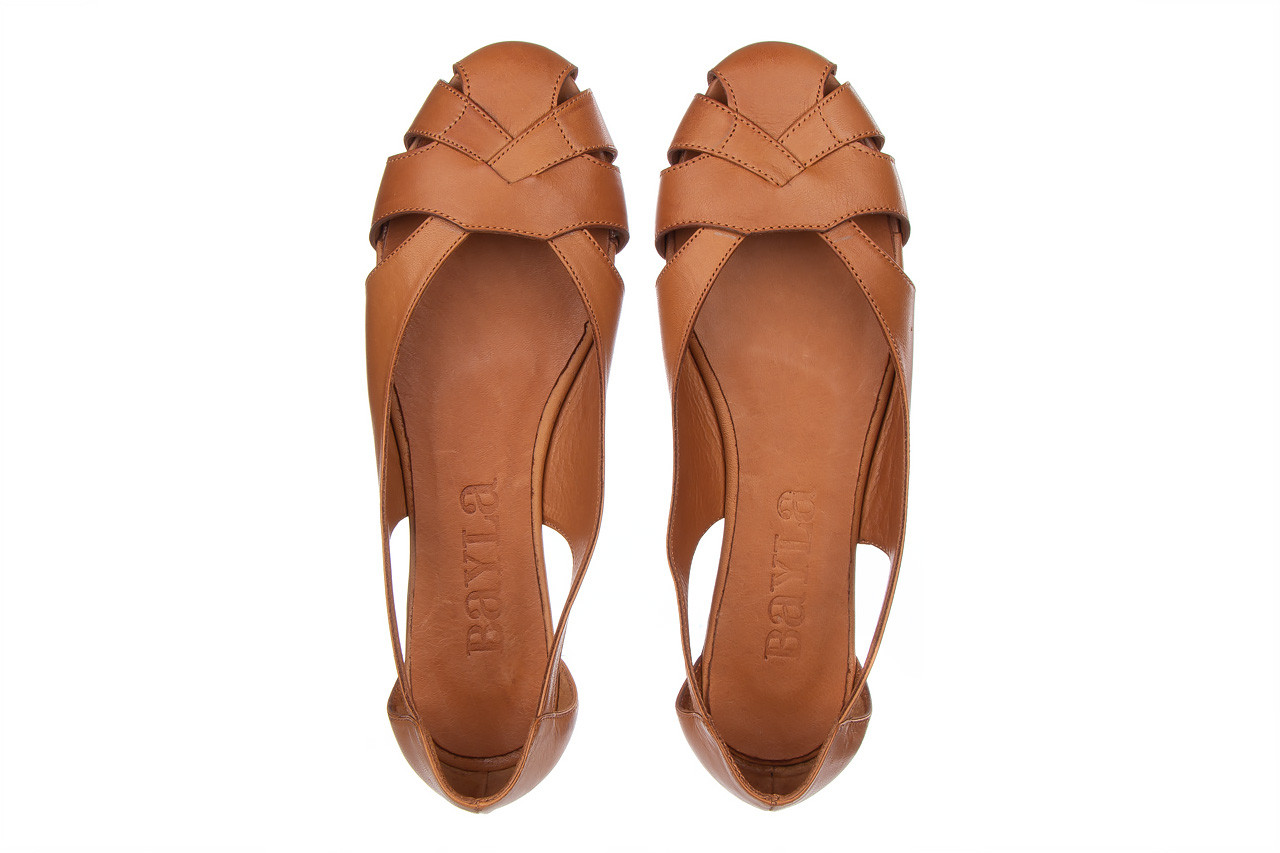 Baleriny bayla-161 093 6047 coconut 161209, brąz, skóra naturalna  - skórzane - baleriny - buty damskie - kobieta 12