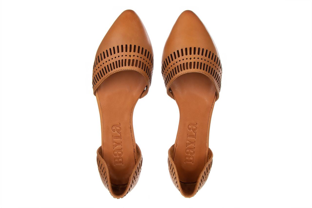 Baleriny bayla-161 138 1102 coconut 161216, brąz, skóra naturalna  - skórzane - baleriny - buty damskie - kobieta 12