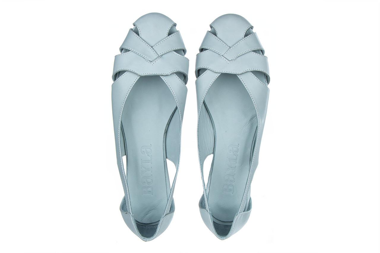 Baleriny bayla-161 138 1560 fresh 161220, niebieski, skóra naturalna - skórzane - baleriny - buty damskie - kobieta 12