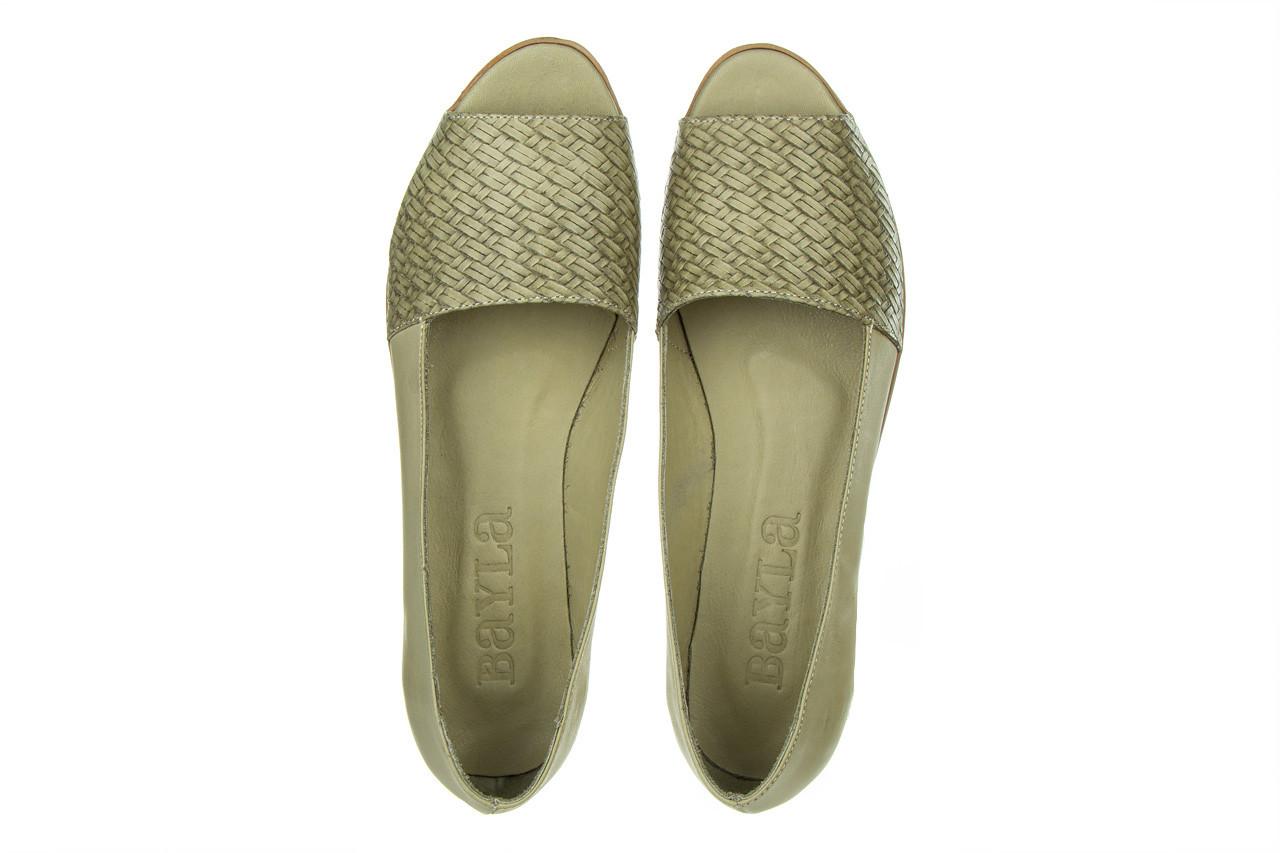 Baleriny bayla-161 138 80132 khaki 161227, zielony, skóra naturalna  - baleriny - dla niej  - sale 13
