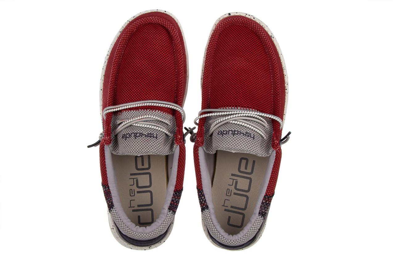 Półbuty heydude wally hawk lava grey 003200, czerwony, materiał - trendy - mężczyzna 12