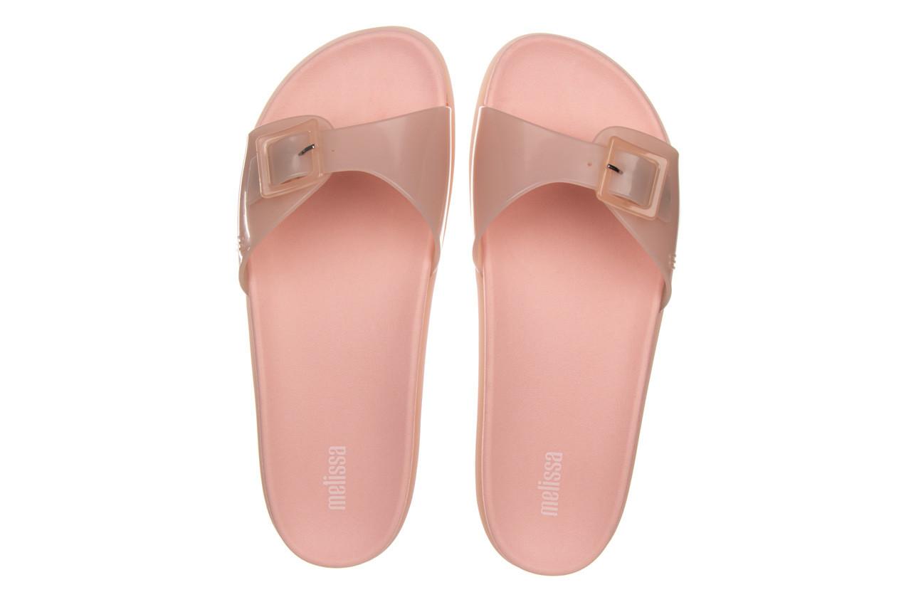 Klapki melissa wide slide ad soft pink pink transparent 010360, róż, guma - klapki - buty damskie - kobieta 10