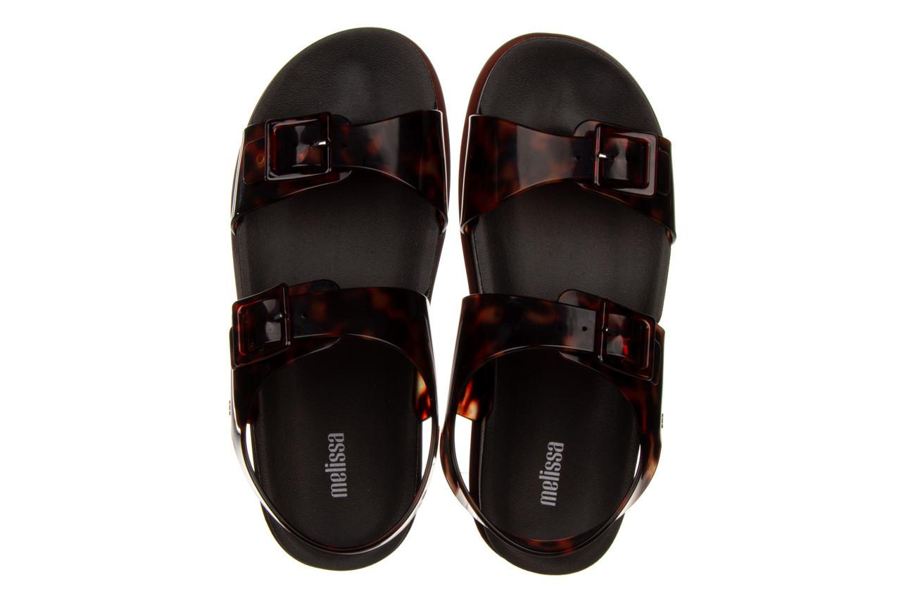 Sandały melissa wide platform ad black turtoise 010362, czarny/ brąz, guma - nowości 12