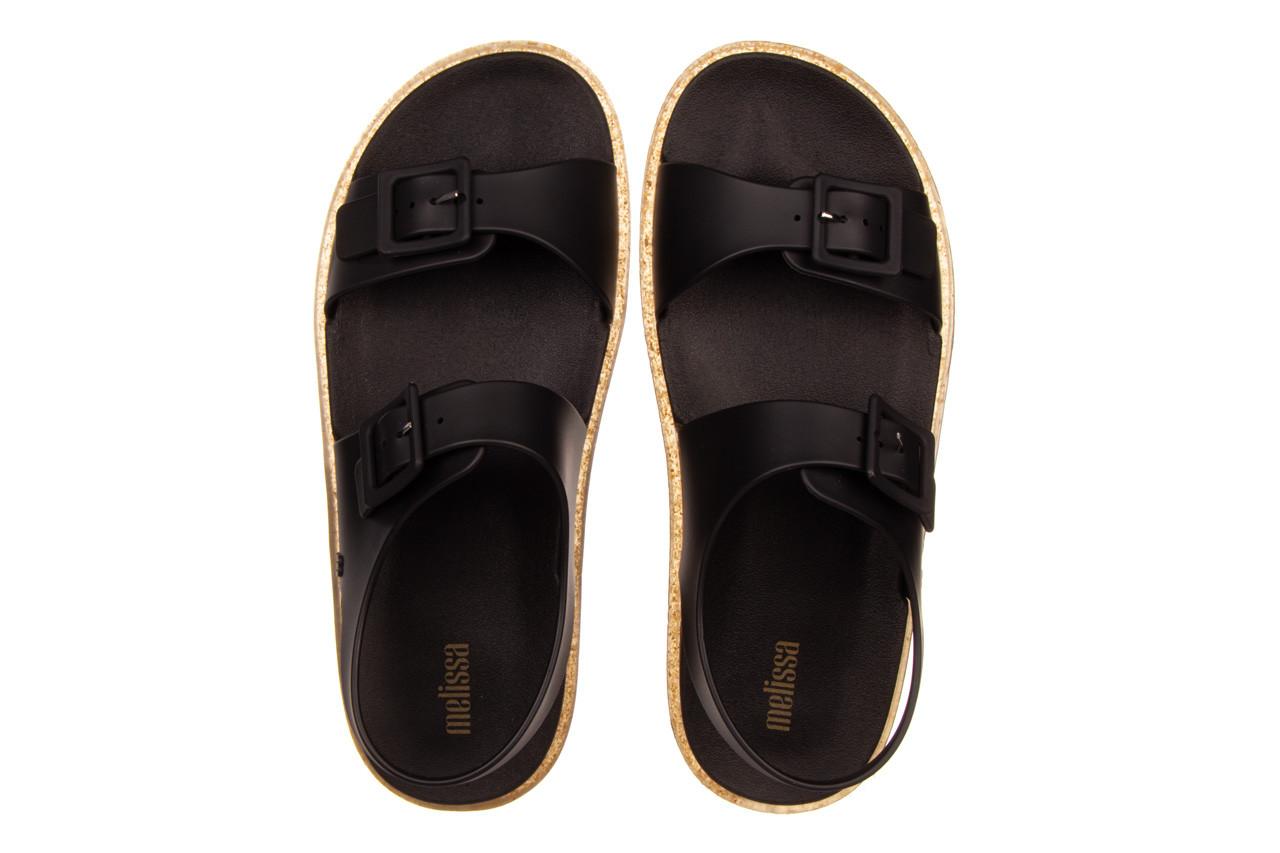 Sandały melissa wide sandal ad black rice husk 010358, czarny, guma - nowości 12