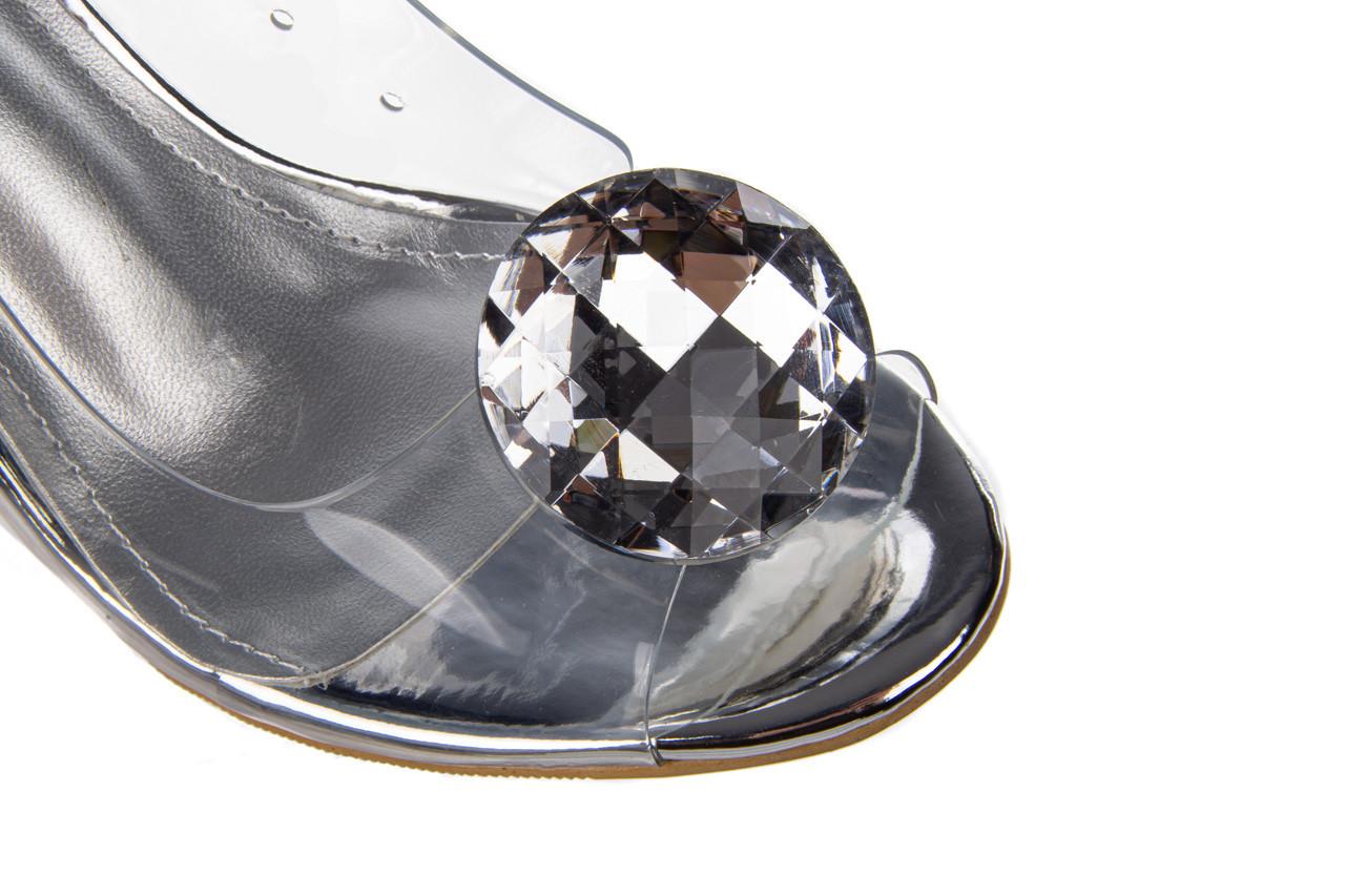 Sandały sca'viola g-17 silver 21 047186, srebro, silikon 13