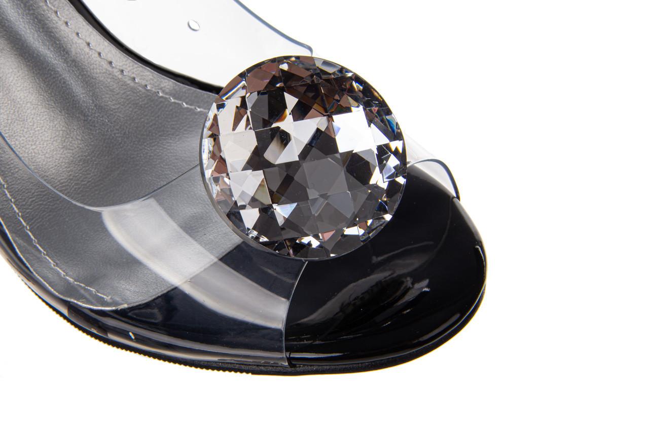 Sandały sca'viola g-17 black 21 047184, czarny, silikon  - na obcasie - sandały - buty damskie - kobieta 16