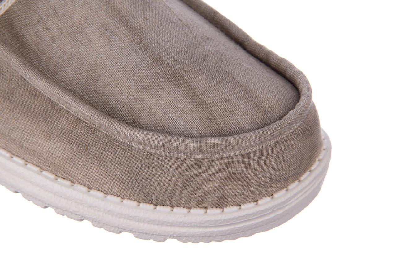 Półbuty heydude wally linen natural khaki 003205, beż, materiał - trendy - mężczyzna 15