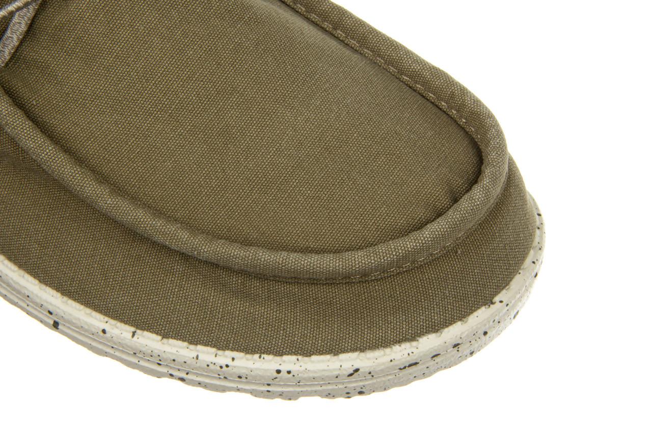Półbuty heydude wally washed kalamata 003216, zielony, materiał 13