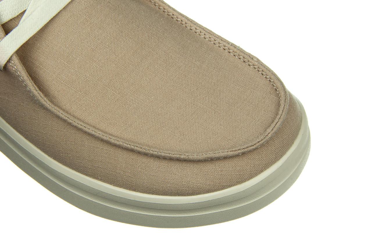 Półbuty heydude wendy rise chambray sandshell 003221, beż, materiał 13