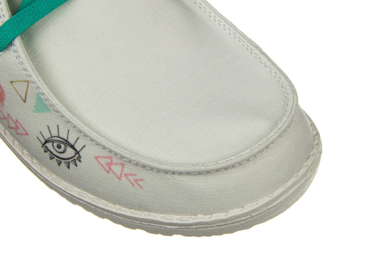 Półbuty heydude wendy doodle star white 003219, biały, materiał - nowości 16