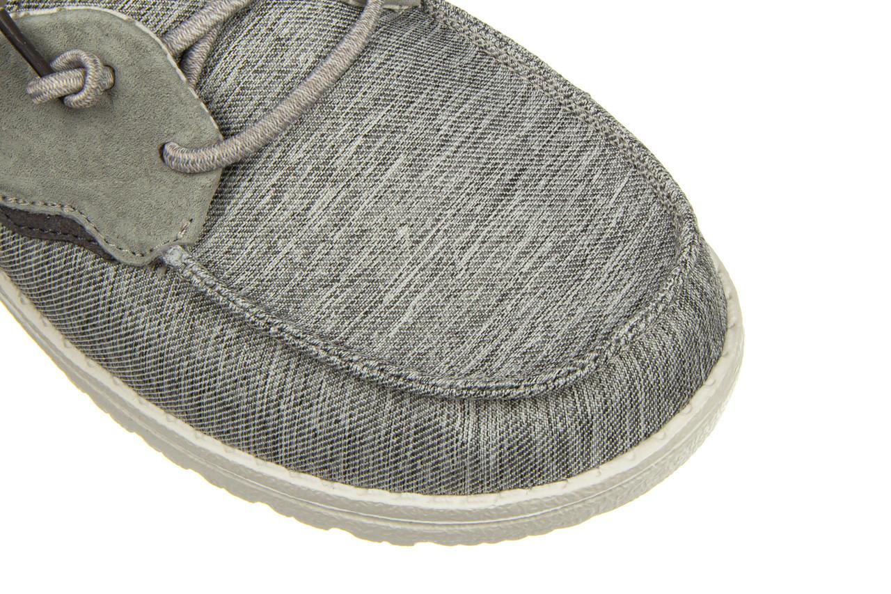 Półbuty heydude laila chambray ice grey 003214, szary, materiał - dla niej  - sale 15