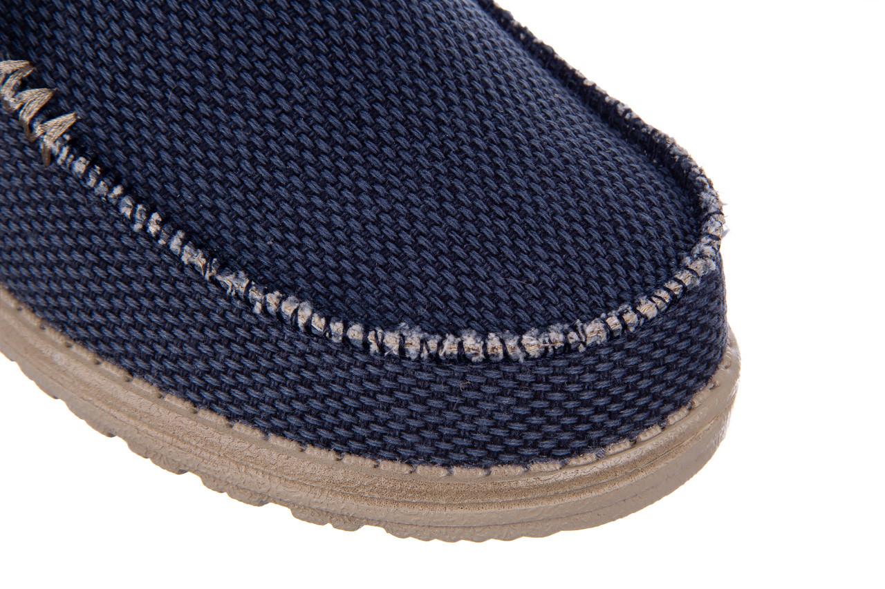 Półbuty heydude wally braided blue night 003197, granat, materiał  - trendy - mężczyzna 13