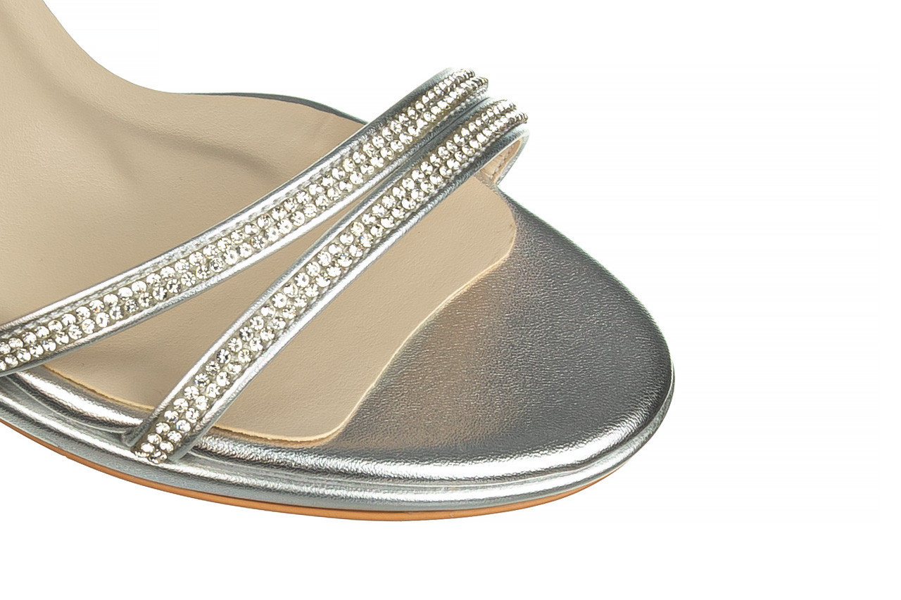Sandały bayla-187 587-1120 silver 187016, srebro, skóra ekologiczna  - sandały - buty damskie - kobieta 12