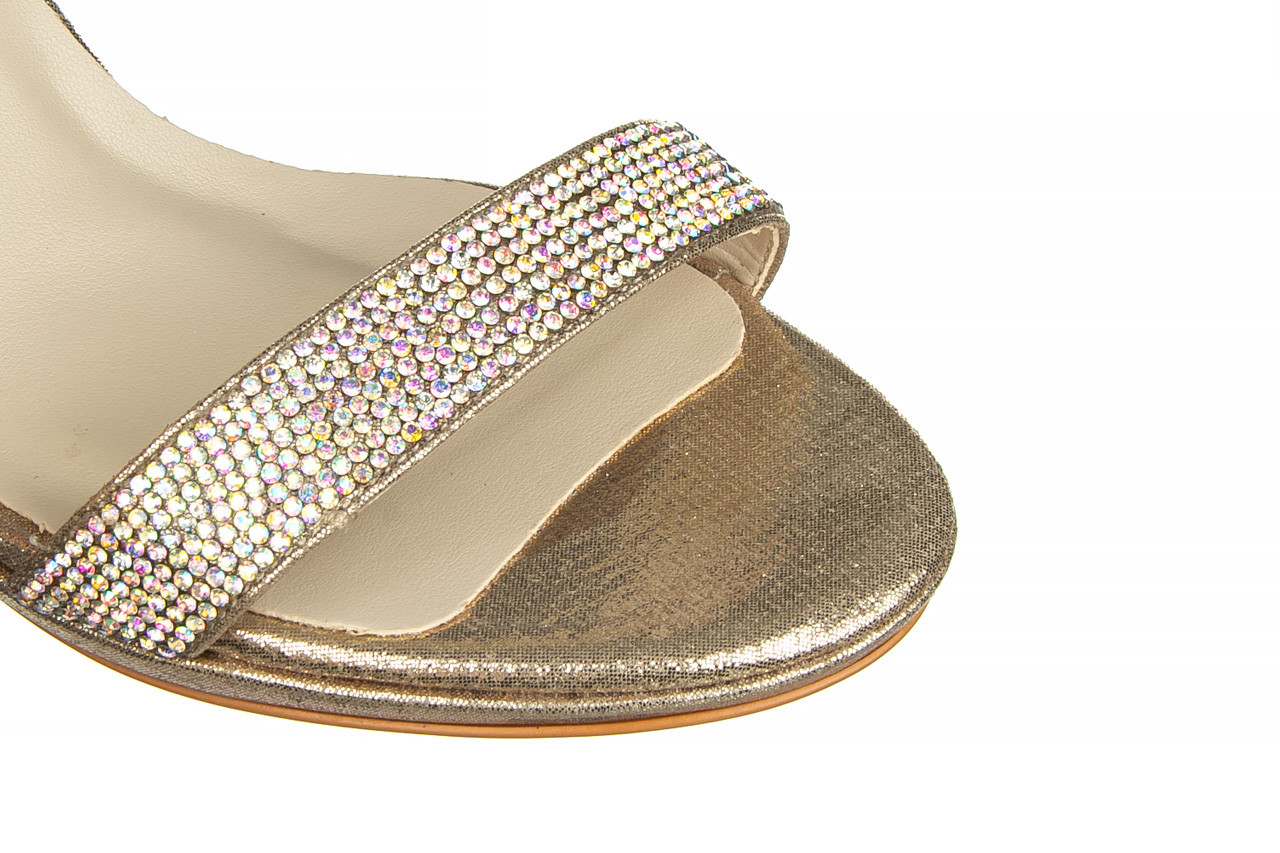 Sandały bayla-187 587-536 gold 187020, złoty, skóra ekologiczna 12