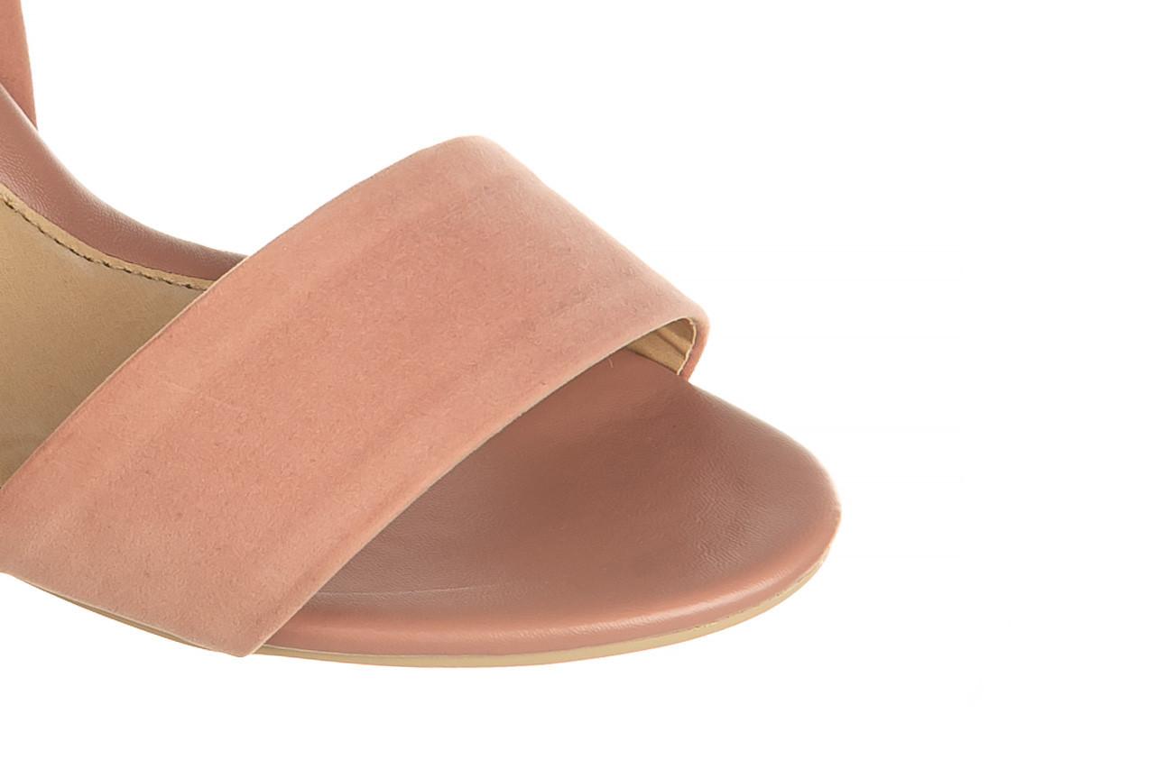 Sandały azaleia 680 242 suede old pink, róż, materiał  - koturny - buty damskie - kobieta 12