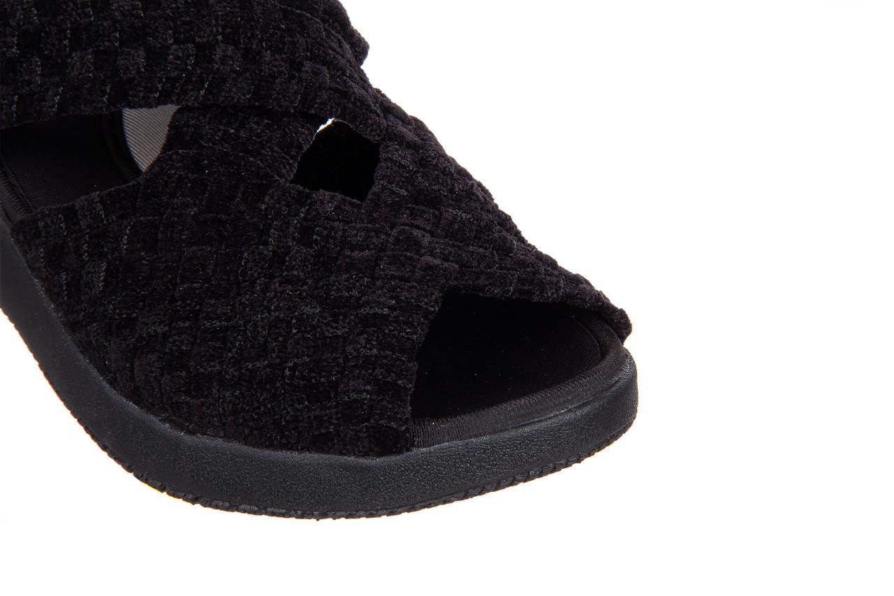 Sandały rock minily black cashmere 032847, czarny, materiał  - rock - nasze marki 12