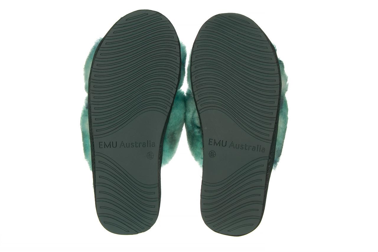 Kapcie emu mayberry tie dye green sea 119138, zielony, futro naturalne  - nowości 12