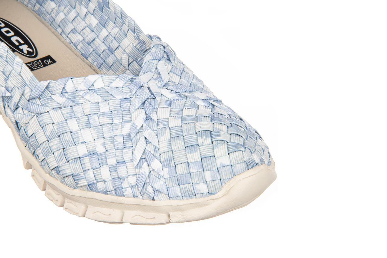 Półbuty rock carioca perena blue smoke 032826, niebieski/ biały, materiał - wsuwane - półbuty - buty damskie - kobieta 13