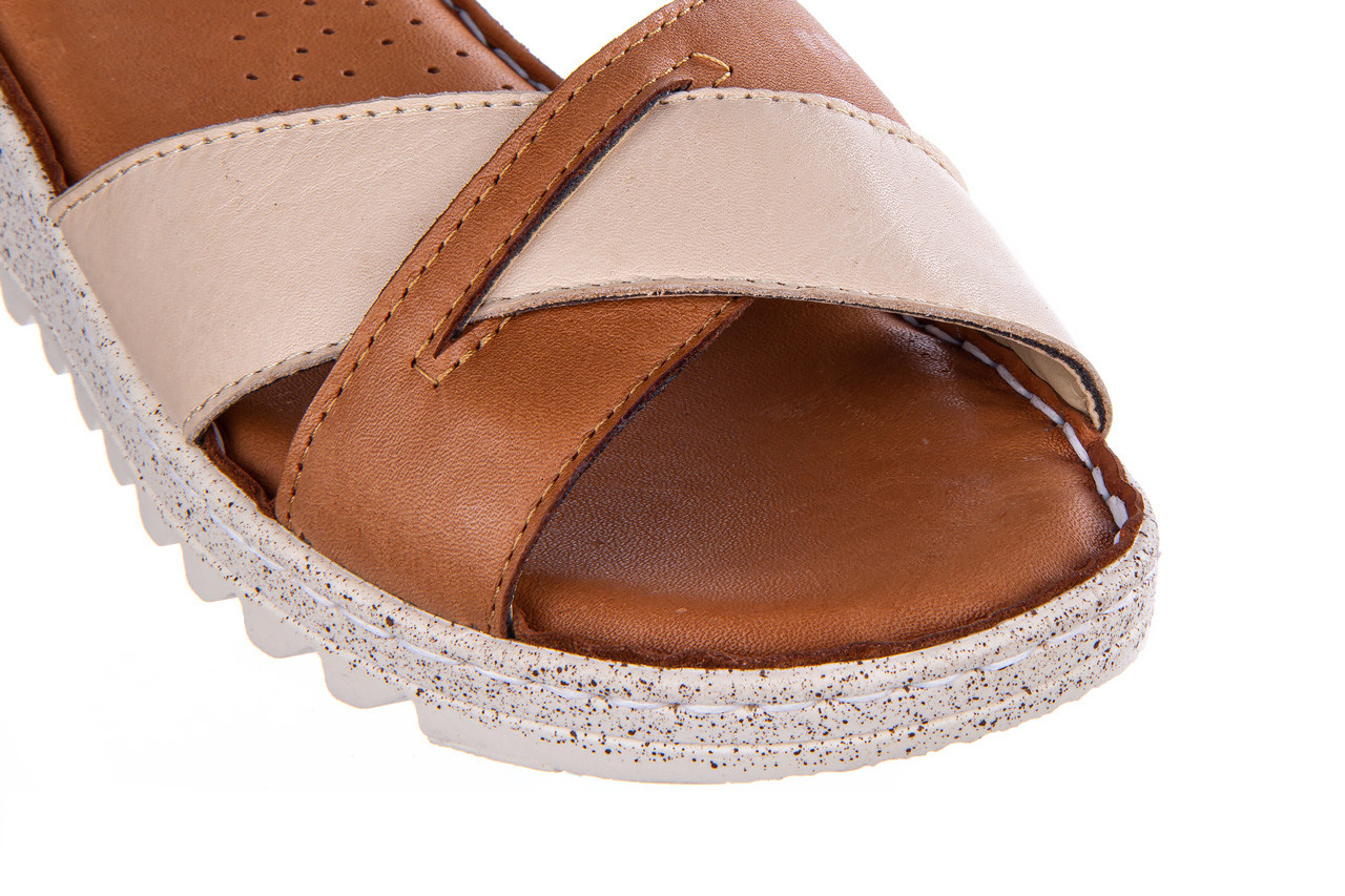 Sandały bayla-161 016 981 beige coconut 161197, brąz/ beż, skóra naturalna  - bayla - nasze marki 13
