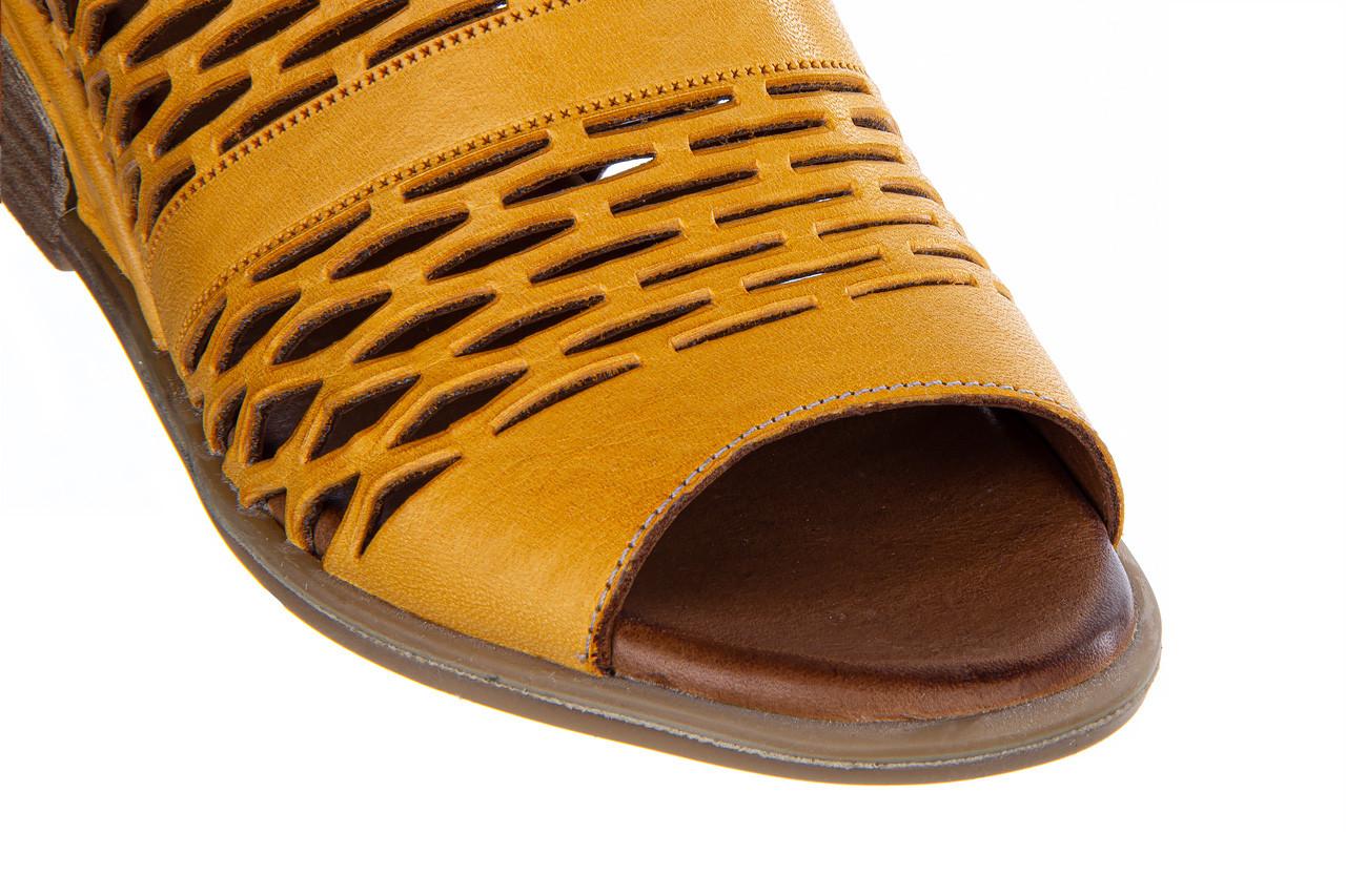 Sandały bayla-161 061 1600 noce 161200, żółty, skóra naturalna  - bayla - nasze marki 15