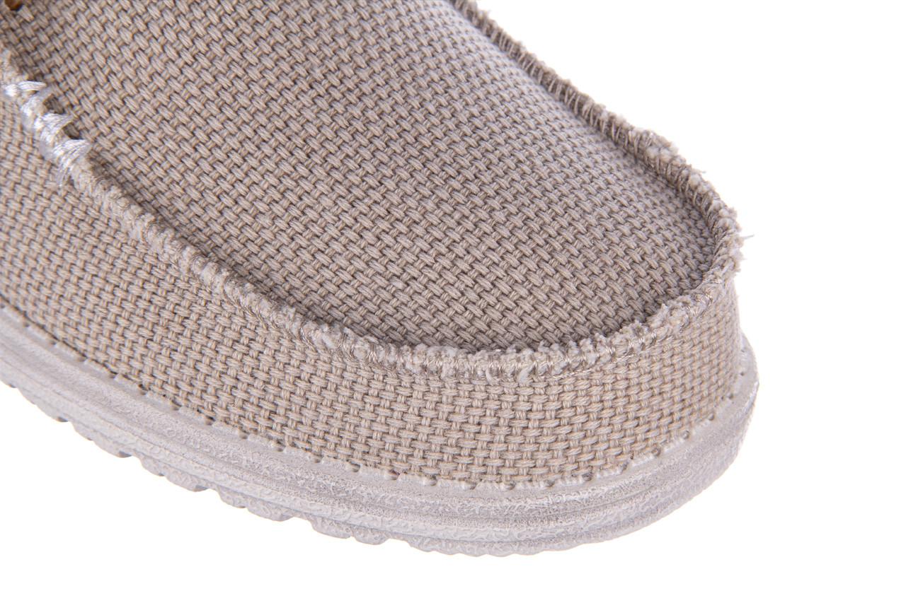 Półbuty heydude wally braided off white 003199, beż, materiał - trendy - mężczyzna 13