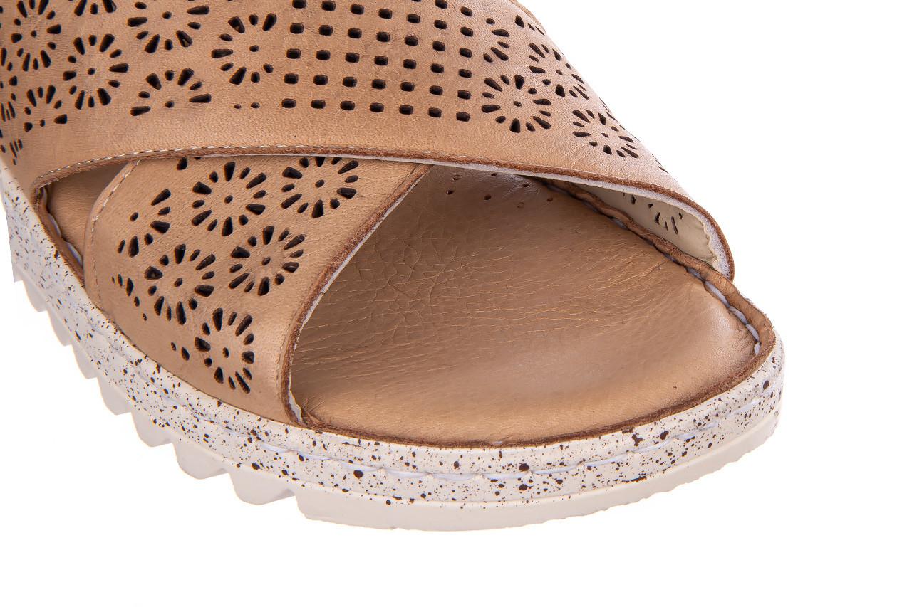 Sandały bayla-161 016 921 cappuccino 161192, brąz, skóra naturalna - sandały - buty damskie - kobieta 14