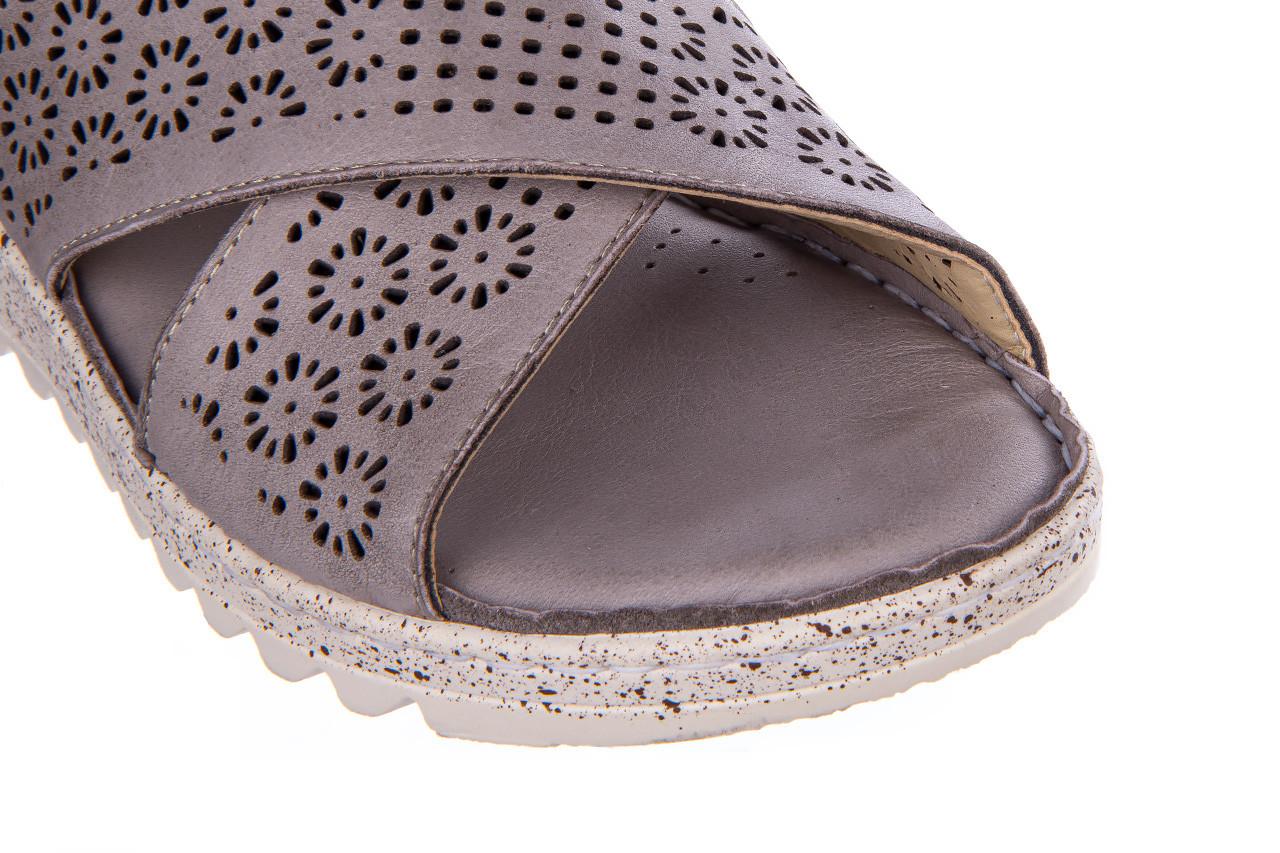 Sandały bayla-161 016 921 grey 161193, szary, skóra naturalna  - bayla - nasze marki 14