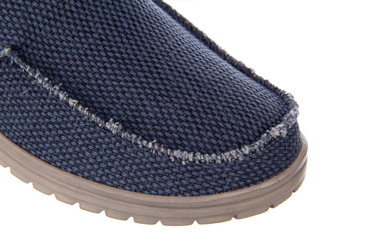 Półbuty heydude mikka braided deep blue 003196, granat, materiał - nowości 14