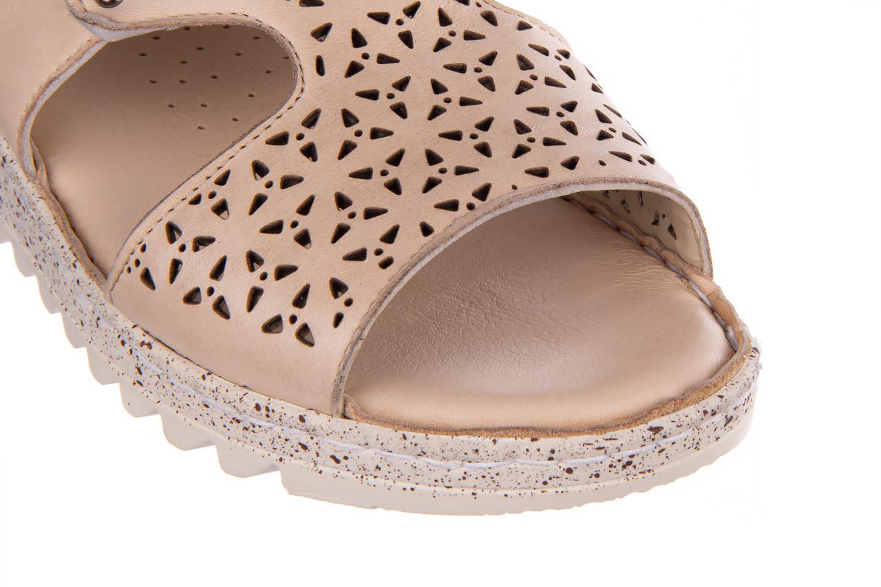 Sandały bayla-161 016 966 beige 161195, beż, skóra naturalna 14