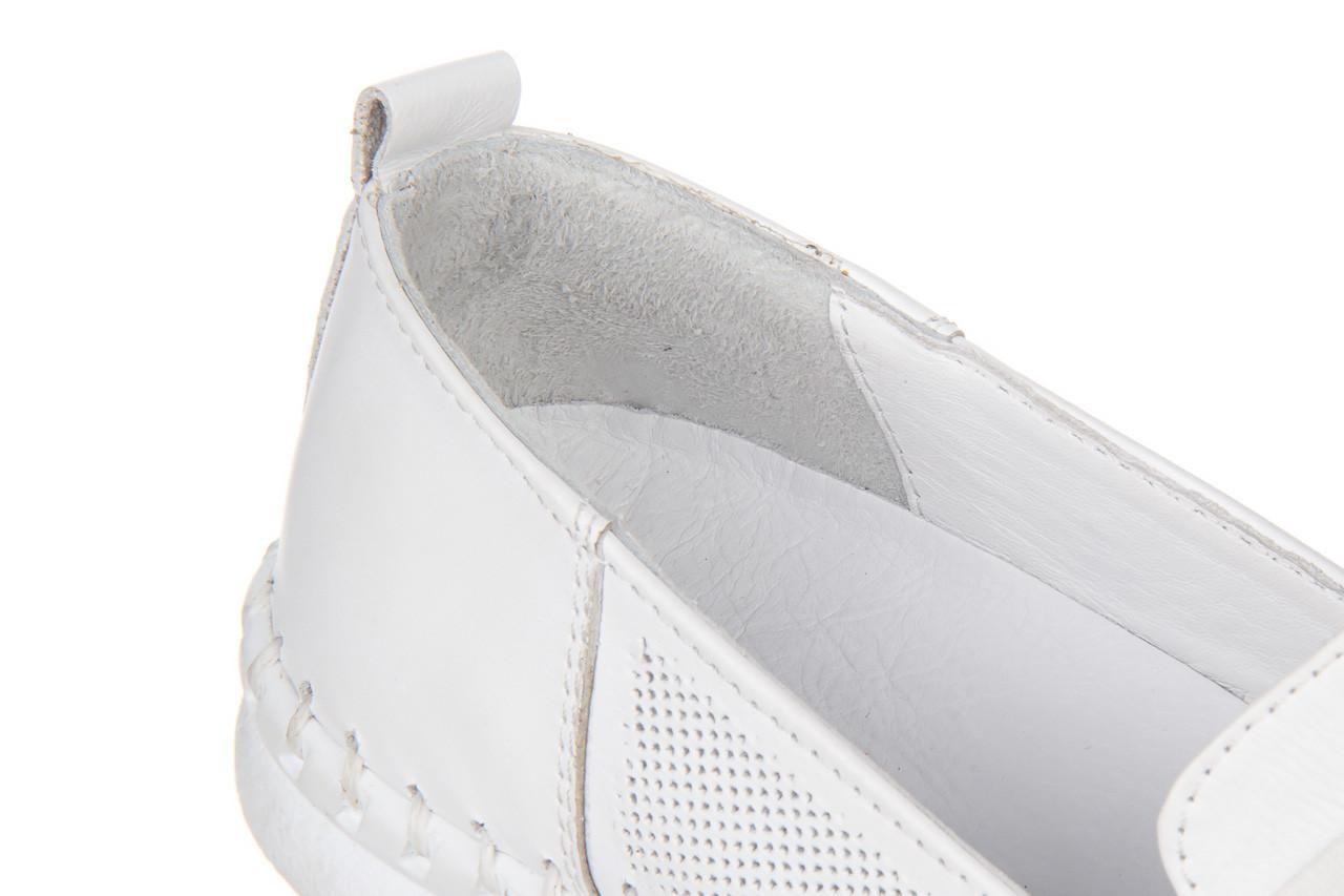 Półbuty bayla-161 064 6013 white 161205, biały, skóra naturalna  - bayla - nasze marki 13
