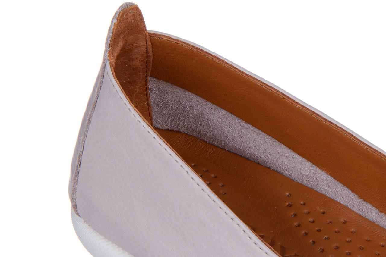 Baleriny bayla-161 059 f007 34 silver grey 161230, beż, skóra naturalna  - skórzane - baleriny - buty damskie - kobieta 14