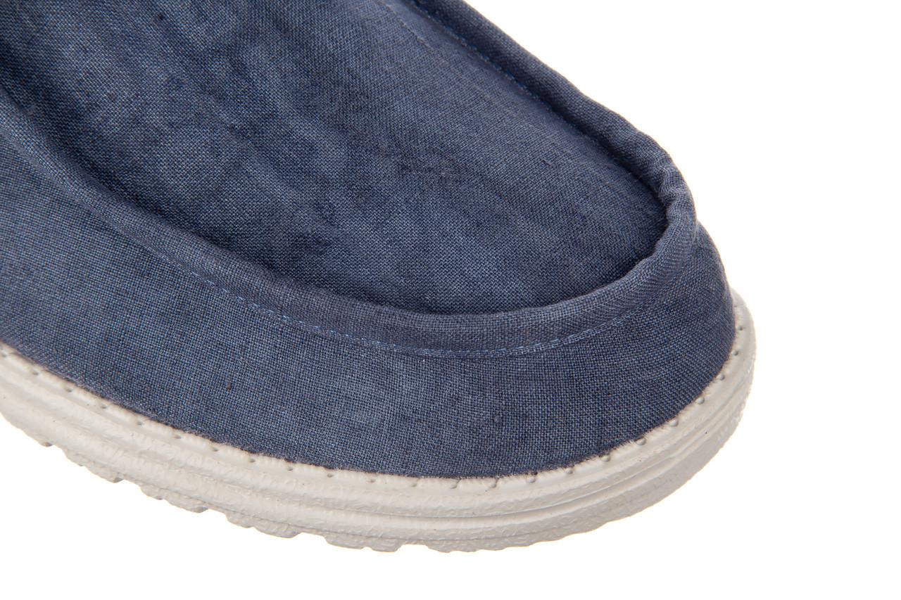 Półbuty heydude wally linen natural blue 003204, granat, materiał  - trendy - mężczyzna 13