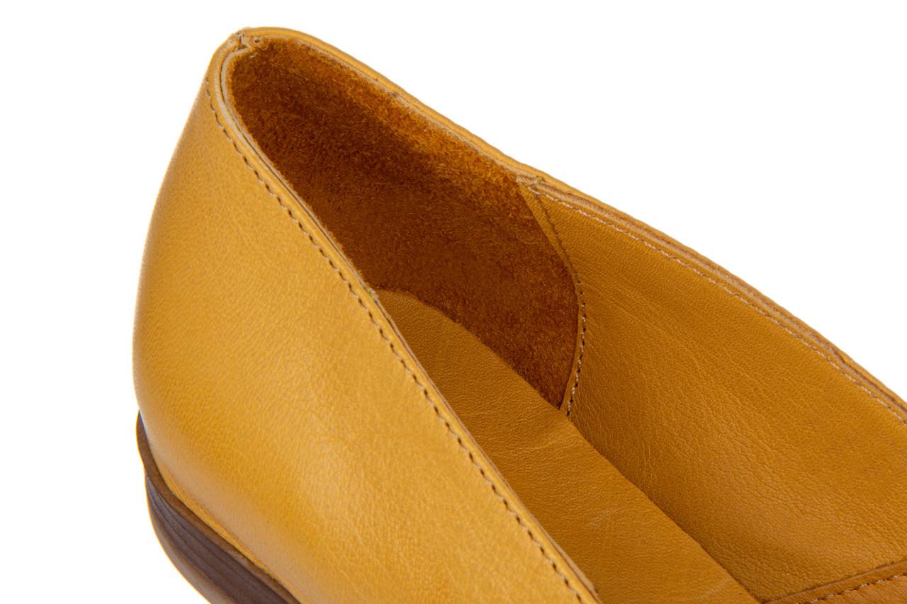 Baleriny bayla-161 138 80123 noce 161225, żółty, skóra naturalna  - skórzane - baleriny - buty damskie - kobieta 14