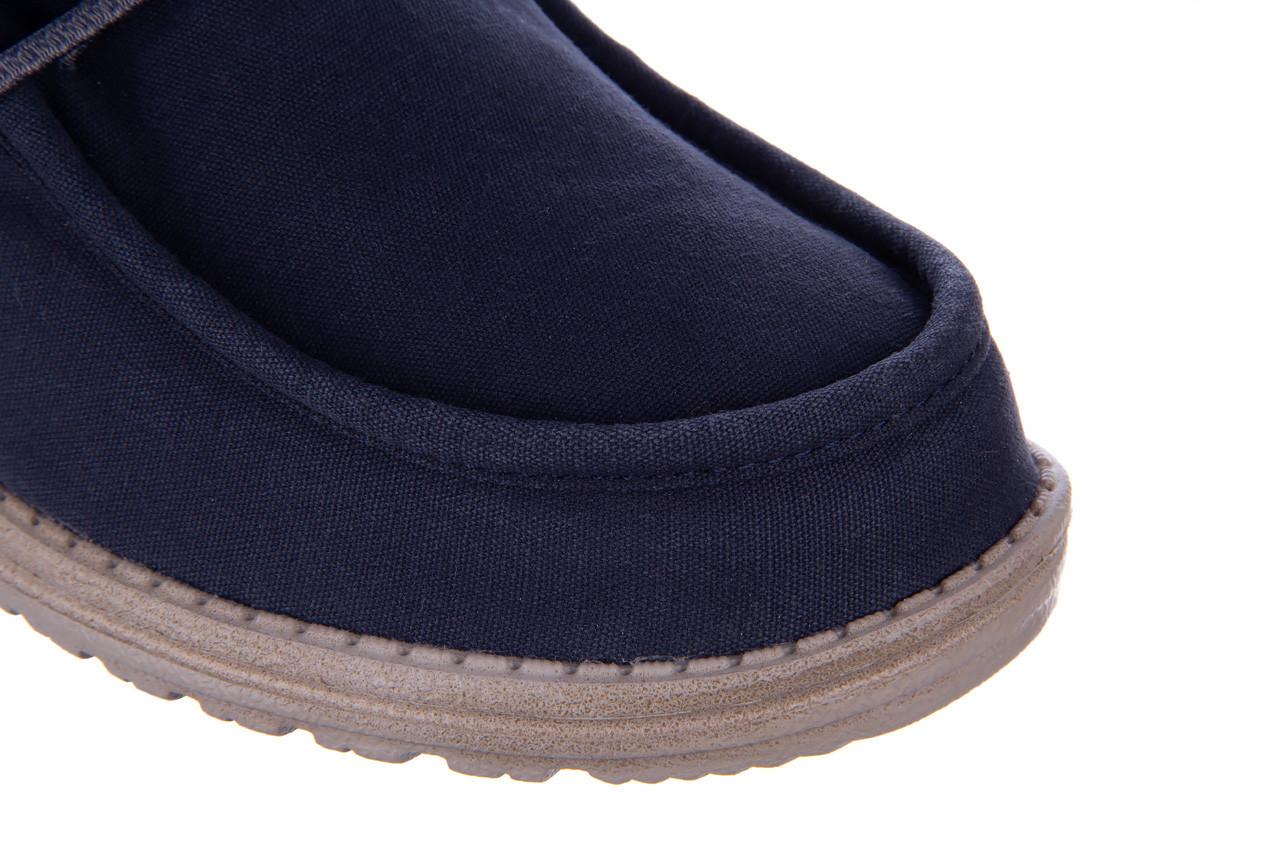 Półbuty heydude wally washed blue space 003207, granat, materiał  - nowości 13