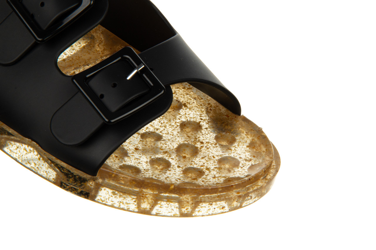 Klapki melissa wide ad black beige transparent 010357, czarny, guma - klapki - buty damskie - kobieta 12