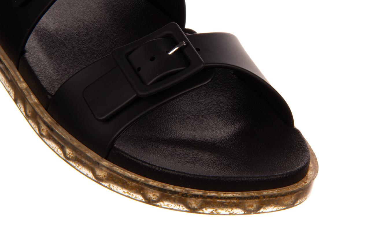 Sandały melissa wide sandal ad black rice husk 010358, czarny, guma - nowości 13