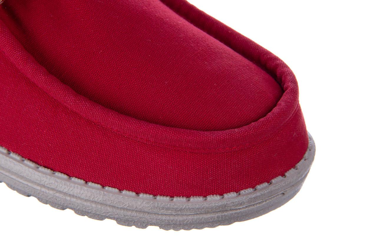 Półbuty heydude wally washed molten lava 003208, czerwony, materiał - trendy - mężczyzna 13