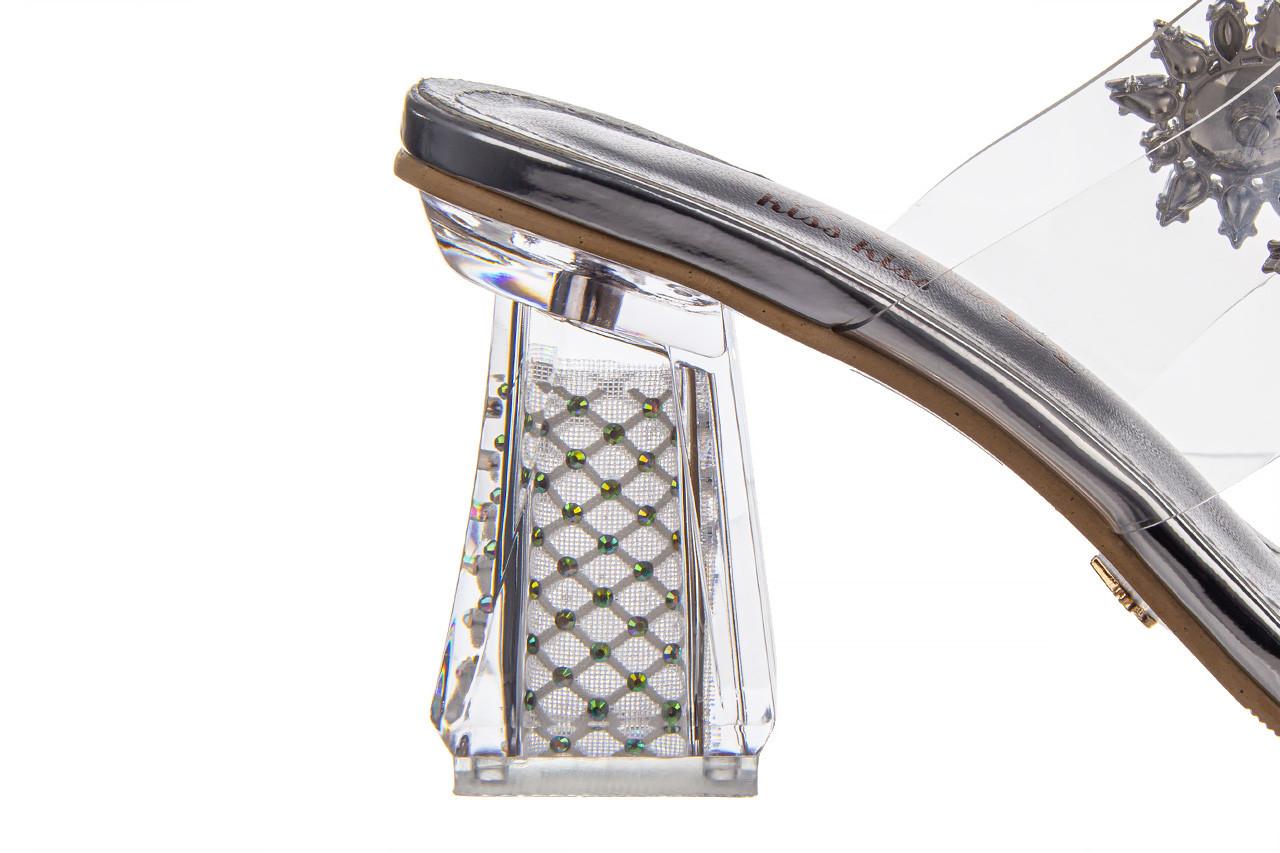 Klapki sca'viola g-58 silver 047188, srebro, silikon  - klapki - buty damskie - kobieta 15