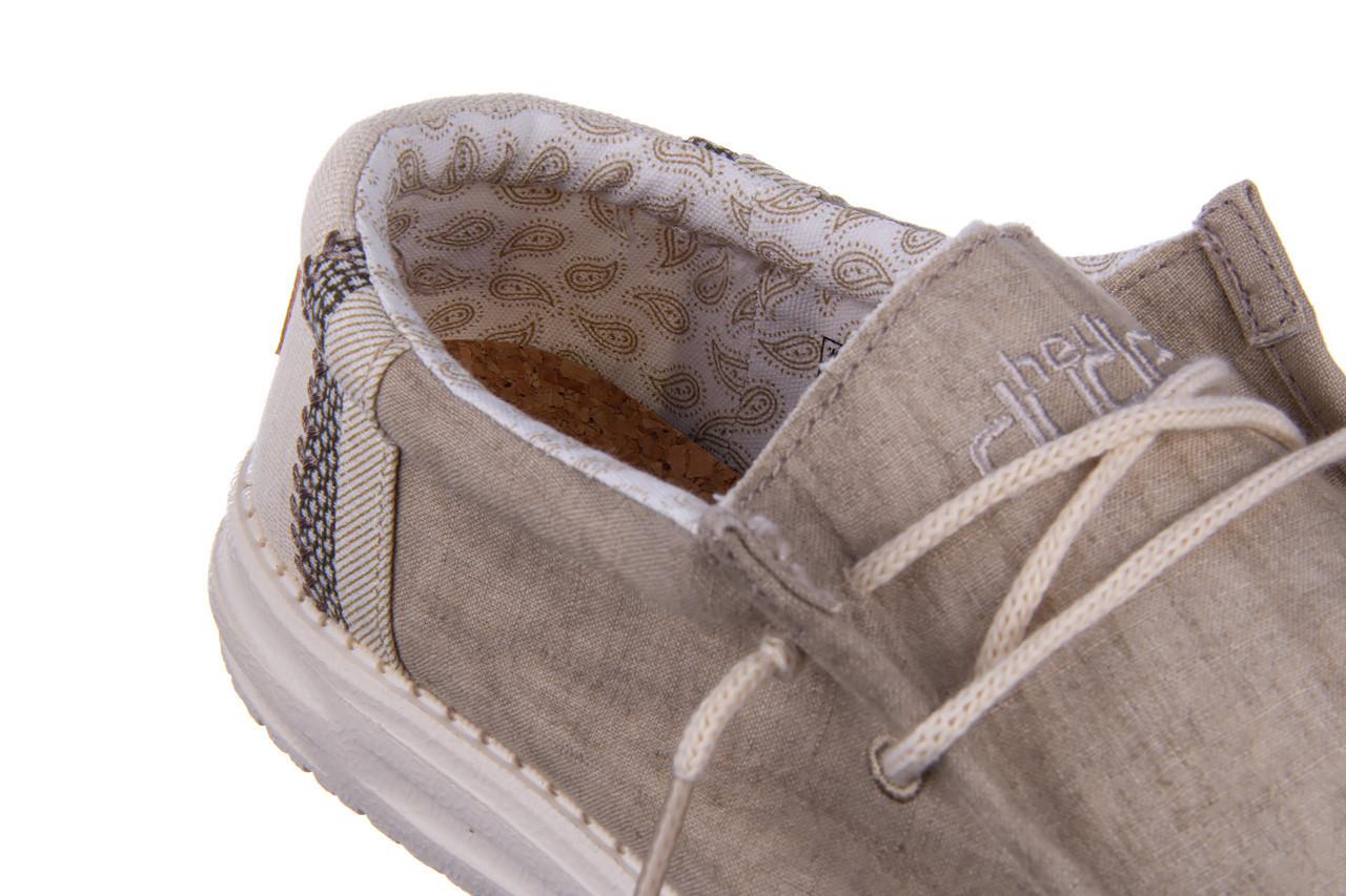 Półbuty heydude wally linen natural khaki 003205, beż, materiał - trendy - mężczyzna 13