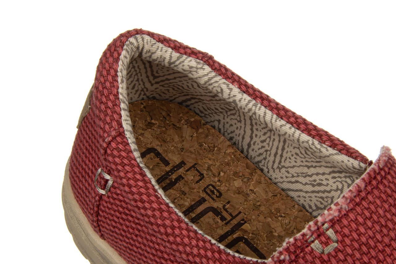 Półbuty heydude mikka braided pompeian red 003215, czerwony, materiał  - nowości 13