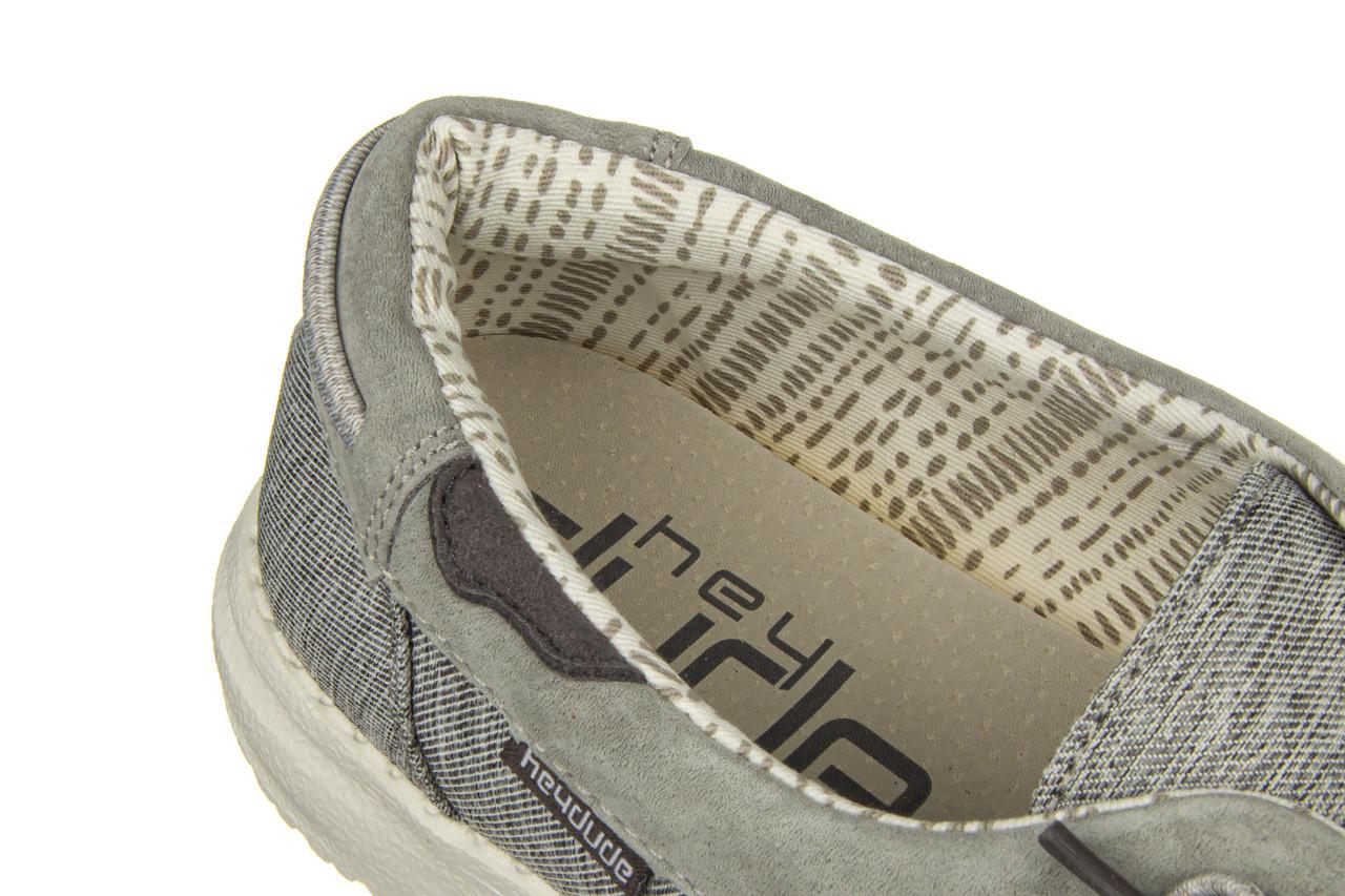 Półbuty heydude laila chambray ice grey 003214, szary, materiał - dla niej  - sale 13