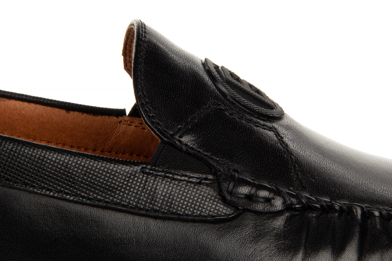 Mokasyny john doubare ygc-z2154-301-10 black 104174, czarny, skóra naturalna  - mokasyny i espadryle - buty męskie - mężczyzna 18
