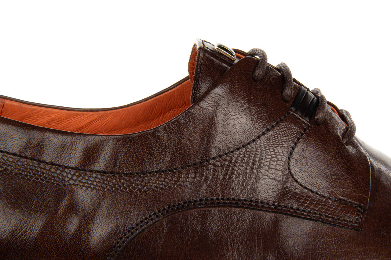 Półbuty john doubare q13e-s45-a77 coffee 104171, brąz, skóra naturalna  - wizytowe - półbuty - buty męskie - mężczyzna 15
