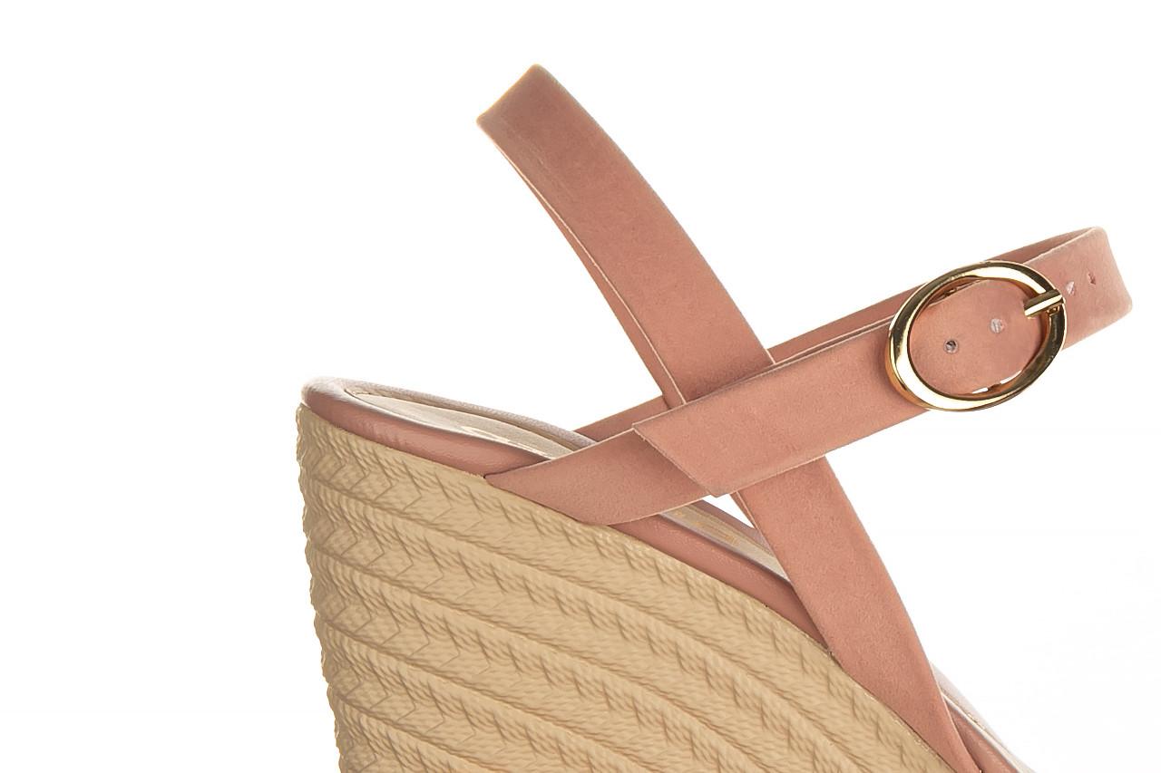 Sandały azaleia 680 242 suede old pink, róż, materiał  - koturny - buty damskie - kobieta 13