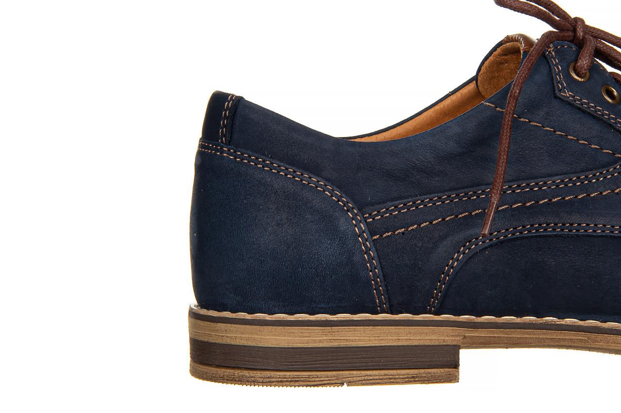 Półbuty bayla-081 831 juma blue ax, granat, skóra naturalna  - wizytowe - półbuty - buty męskie - mężczyzna 15
