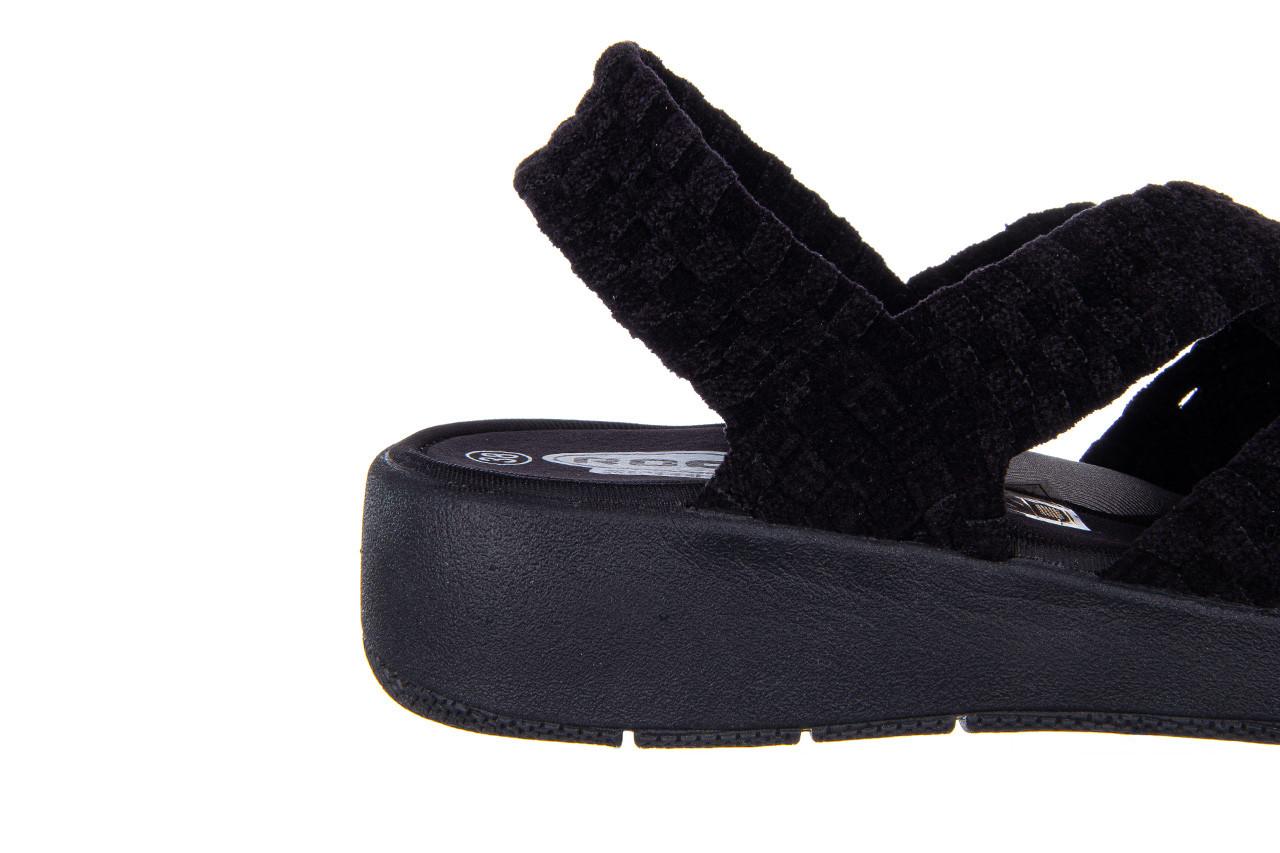 Sandały rock minily black cashmere 032847, czarny, materiał  - rock - nasze marki 13