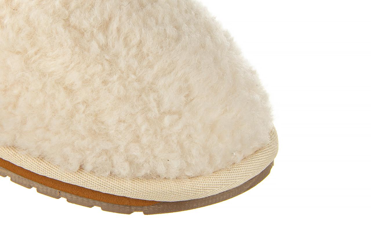 Klapki emu joy teddy natural 119139, beż, futro naturalne  - trendy - kobieta 13