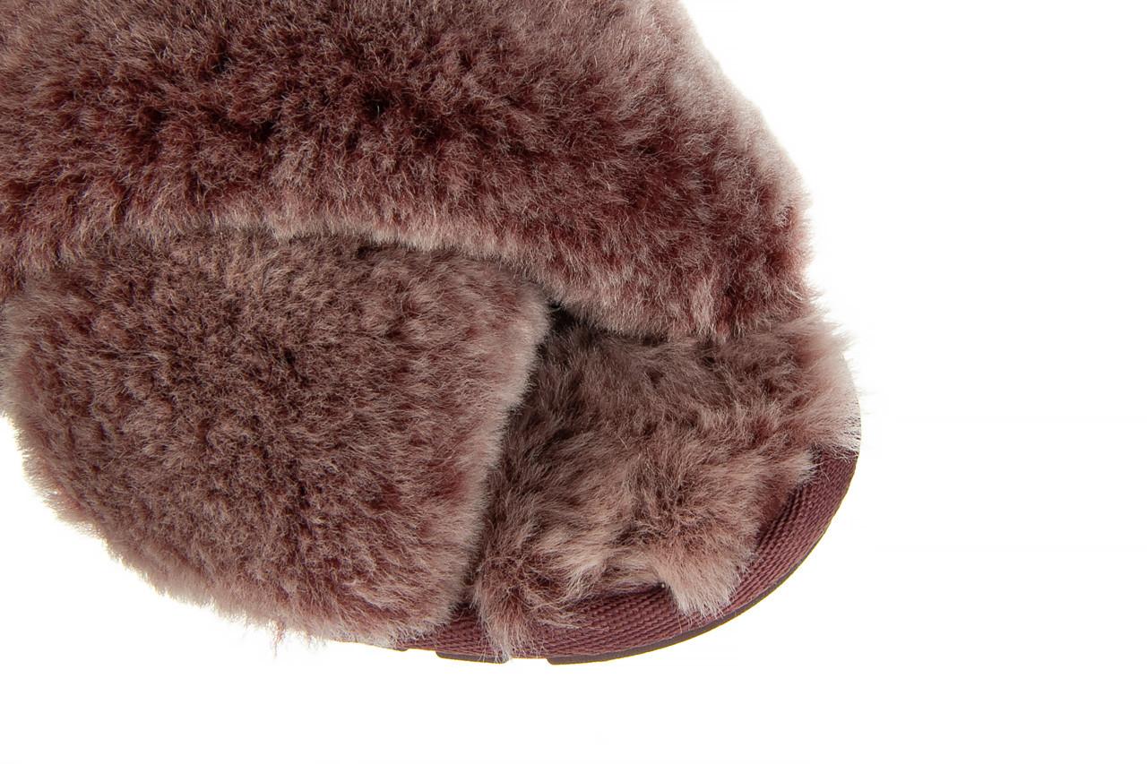 Kapcie emu mayberry frost burnt rust 119131, bordo, futro naturalne  - nowości 13